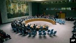 Savet bezbednosti Ujedinjenih nacija tokom glasanja o rezuluciji o Siriji