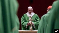 Папа римский Франциск (архивное фото)