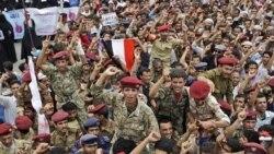 صدها هزار یمنی در شهرهای عمده گرد هم آمده خواستار برکناری رییس جمهوری شدند. ۱۵ ژوئن ۲۰۱۱