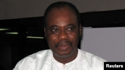 L'ancien Premier ministre togolais Edem Kodjo, facilitateur du dialogue congolais désigné par l'Union africaine, 8 juin 2005.
