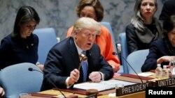 Президент Трамп открывает заседание Совбеза ООН