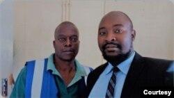 Nunurai Jena (l) arrested and (r) lawyer Kudzai Shoko