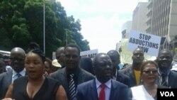 Umkhokheli weMDC-T umnumzana Morgan Tsvangirai laye ubekhona ekufoleni kokunanza ukunyamalala kuka Itai Dzamara