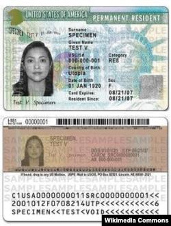 一张美国绿卡