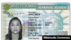 Ishusho ya Green Card (Ikarita y'icyatsi) yo muri Amerika