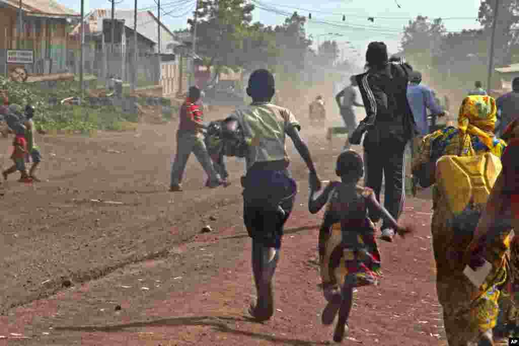 População foge dos combates em Goma