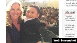 Nữ doanh nhân Anh Quốc bế nhầm người đàn ông 46 tuổi ở Việt Nam. Ảnh chụp màn hình trang web plo.vn