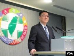 资料照:台湾执政党民进党主席卓荣泰