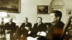 President John Kennedy, right, meeting with Soviet Ambassador Andrei Gromyko, second from right, and other Soviet officials in Washington in 1962