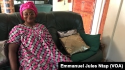 Henriette Bessala, ancienne voisine de Georges Weah au quartier Cité verte, Yaoundé, Cameroun, 11 janvier 2017. (VOA/ Emmanuel Jules Ntap)