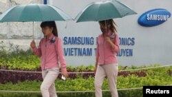 Nhà máy sản xuất điện thoại thông minh của Samsung ở tỉnh Thái Nguyên, Việt Nam