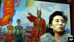 북한 고분군 내 동명왕릉의 안내원 (자료사진)