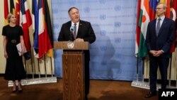 El secretario de Estado de EE.UU., Mike Pompeo, anunció la reactivación de las sanciones a Irán.