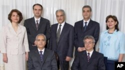 The seven leaders of Iran's Baha'i community.