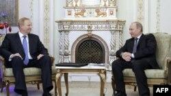 Встреча генерального директора «Бритиш Петролеум» Роберта Дадли и Владимира Путина