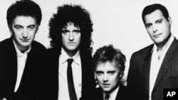 "Members of rock band Queen from left to right are John Deacon, Brian May, Roger Taylor and Freddie Mercury in 1989. The band's 1975 song ""Bohemian Rhapsody"" has become the most-streamed song from the 20th century."