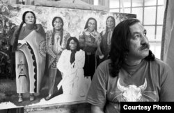 This is a 1992 photo of Indian activist Leonard Peltier, taken at the Federal Prison at Leavenworth, Kansas. (Courtesy: International Leonard Peltier Defense Committee)