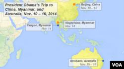 President Obama's trip to China, Myanmar, and Australia, Nov. 10 – 16, 2014