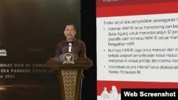 Ketua Komnas HAM Ahmad Taufan Damanik. (Foto: VOA)