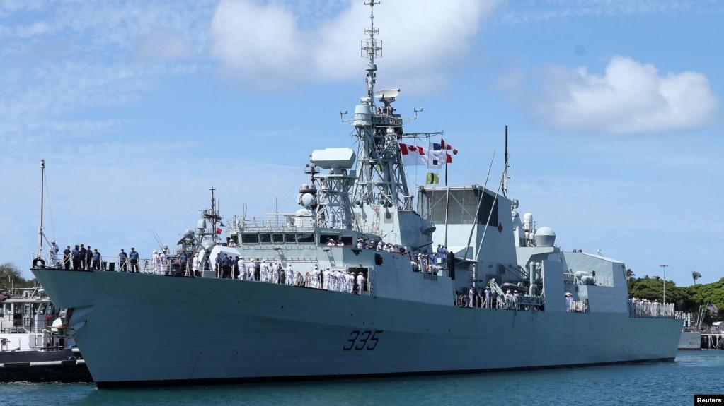 Chiến hạm Canada HMCS Calgary.