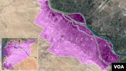 Mapa: Deir Ezor u Siriji