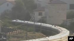 중국을 경유하여 귀국하는 김정일 국방위원장의 기차