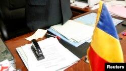 Dans le bureau du ministre de la justice au Tchad, le 27 décembre 2007.