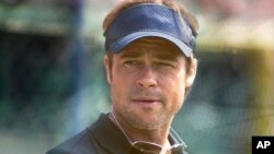 "Brad Pitt in a scene from ""Moneyball"""