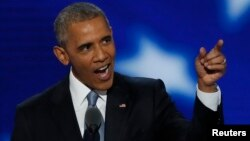 US President Barack Obama mu Democrat National Convention