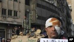 Un manifestant blessé au Caire