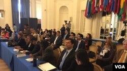 La OEA adelanta una serie de cuatro sesiones de audiencias públicas para analizar si existen fundamentos y argumentos suficientes para denunciar a individuos vinculados con el gobierno de Venezuela por crímenes de lesa humanidad ante la Corte Penal Internacional (CPI).