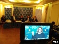 """Debata """"Može li Srbija ka EU bez rešavanja pitanja Kosova"""" u organizaciji Instituta za evropske poslove, u beogradskom hotelu Moskva, 29. novembra 2018."""