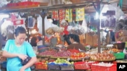 Women in the market in Indonesia
