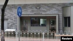 Вхід до консульства США в Гуанчжоу
