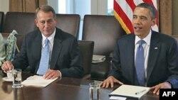 Джон Бейнер и Барак Обама