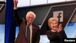 အထက္လႊတ္ေတာ္အမတ္ Bernie Sanders နဲ႔ ဒီမိုကရက္တစ္ပါတီသမၼတေလာင္းျဖစ္ဖို႔ ေသခ်ာသေလာက္ ရွိေနတဲ့ ဟီလာရီကလင္တန္