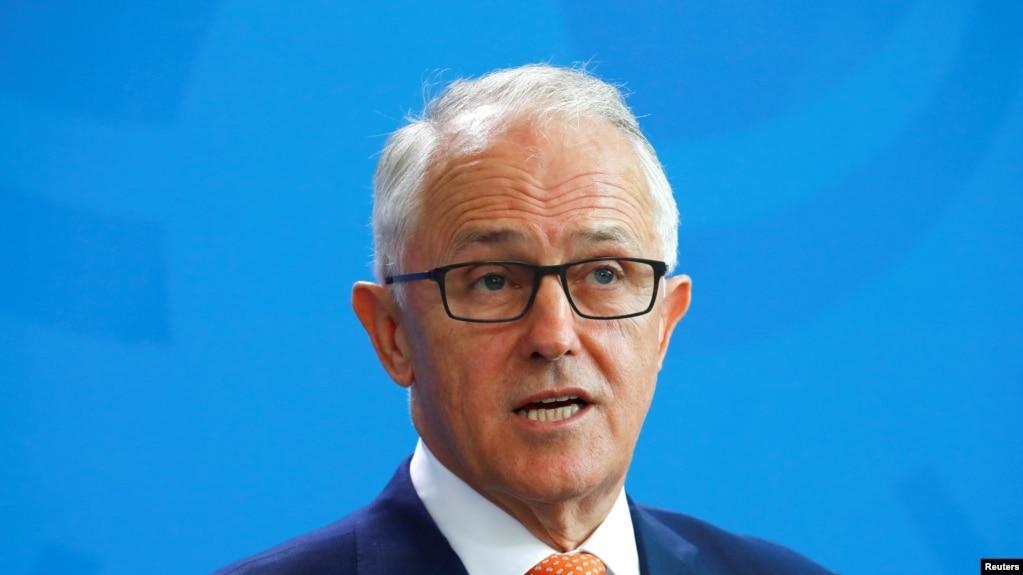 澳大利亞總理特恩布爾2018年4月出席一場活動(路透社)