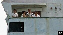 Awak kapal Korea Utara yang kini ditahan di Panama (foto: dok).