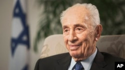 Former Israeli President Shimon Peres suffered a stroke, Sept. 13, 2016, and was rushed to a hospital, where he was sedated and placed on a respirator ahead of a brain scan.