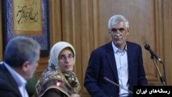 محمد علی افشانی، شهردار تهران در جلسه شورای شهر