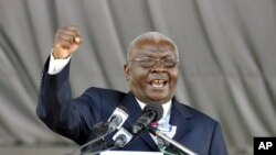 Mozambique President Armando Guebuza during a speech (File Photo)