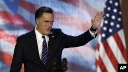 Mitt Romney s'apprêtant à concéder la défaite