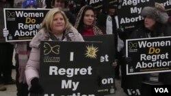 Kelompok-kelompok keagamaan AS menentang aborsi dan pembiayaan pemerintah federal bagi aborsi dalam unjuk rasa di Washington minggu lalu (foto: dok).