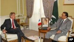 پاکستانی صدر اور فرانسیسی وزیرخارجہ