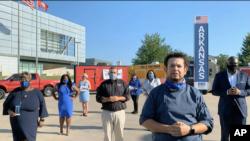 Gilbert Alaquinez, nga shteti Arkansas, flet gjatë thirrjes për votim në mbrëmjen e dytë të Konventës Kombëtare Demokrate, 18 gusht 2020