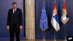 Predsednik Srbije je re nekoliko dana saopštio da njegov sin oboleo od Covid 19, Foto: (AP Photo/Darko Vojinovic)