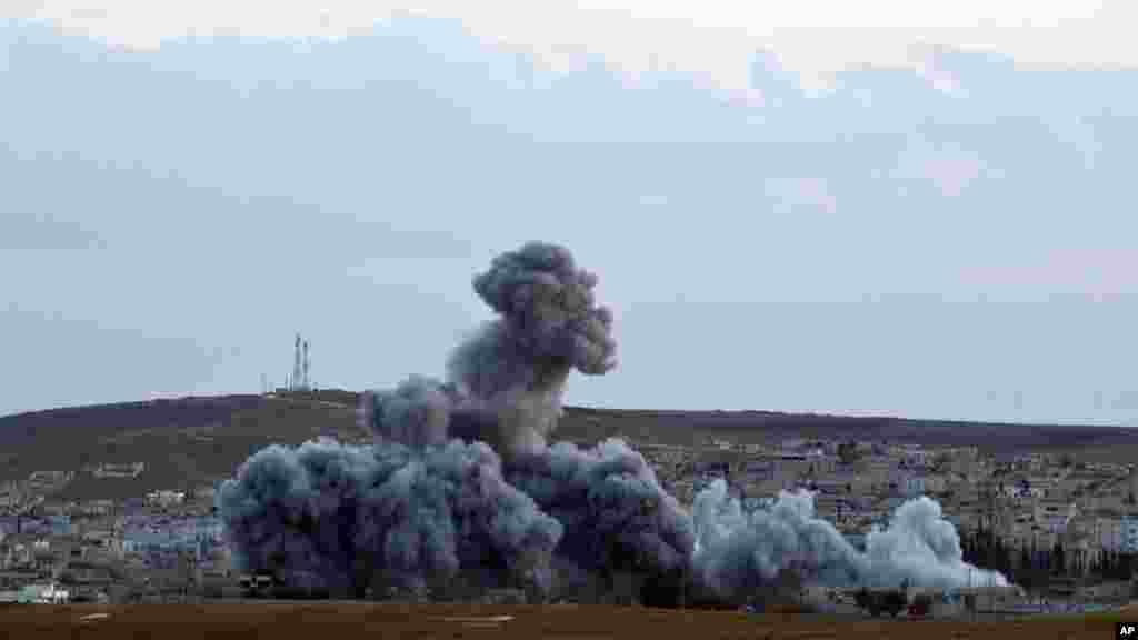 ABŞ qüvvələri Kobaniyə hava zərbələri endirir - 2 noyabr, 2014