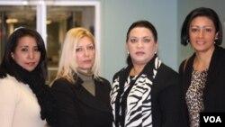 Estas cuatro mujeres llegaron para hablar de la situación carcelaria que se vive en Venezuela.