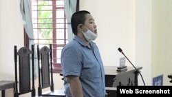 Mã Phùng Ngọc Phú tại phiên tòa ngày 11/05/2020. Photo VietnamNet