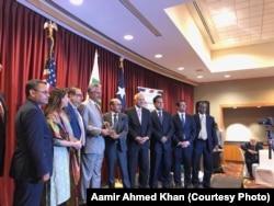 میئر کراچی وسیم اختر، ہیوسٹن میں کراچی ہیوسٹن سسٹر سٹی آرگنائزیشن کی تقریب میں۔17 جولائی 2019